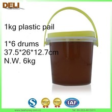 1000g plastic pail HALAL HACCP certificated pure acacia honey