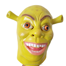 Halloween Green Shrek Latex Mask Movie Cosplay Prop Adult Anime Party Mask for Halloween
