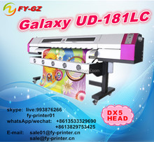 Low price of smart color 1.8M vinyl printer/flex banner printing machine price/DX5 eco solvent plotter for galaxy UD 181LC