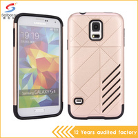 2016 Hot Sale Good Quality TPU+PC Phone Case For Samsung S5 With 9 Colors