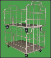 carbon steel warehouse storage trolley with castors
