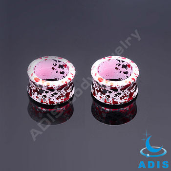 color dots ear expander piercing 14mm plugs