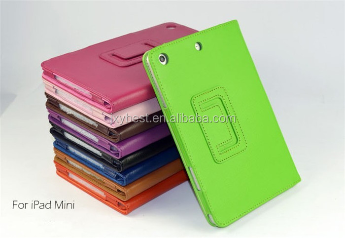 High quality folio stand flip smart cover case for ipad mini 1 2 3