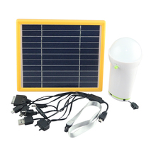 3w Solar lantern with USB port to charge phones