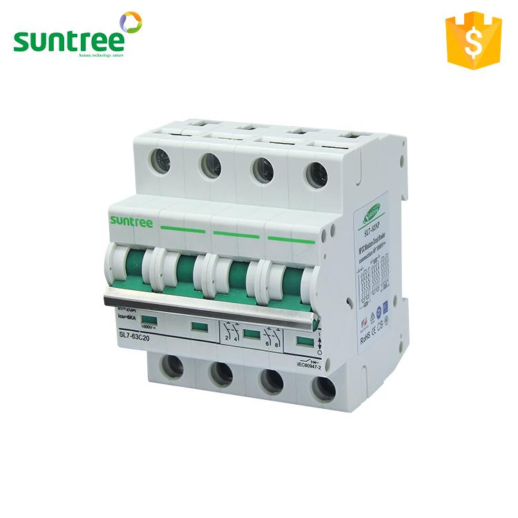 Suntree Manufacturer 20 Amp Miniature Circuit Breaker 4 Pole Mcb ...