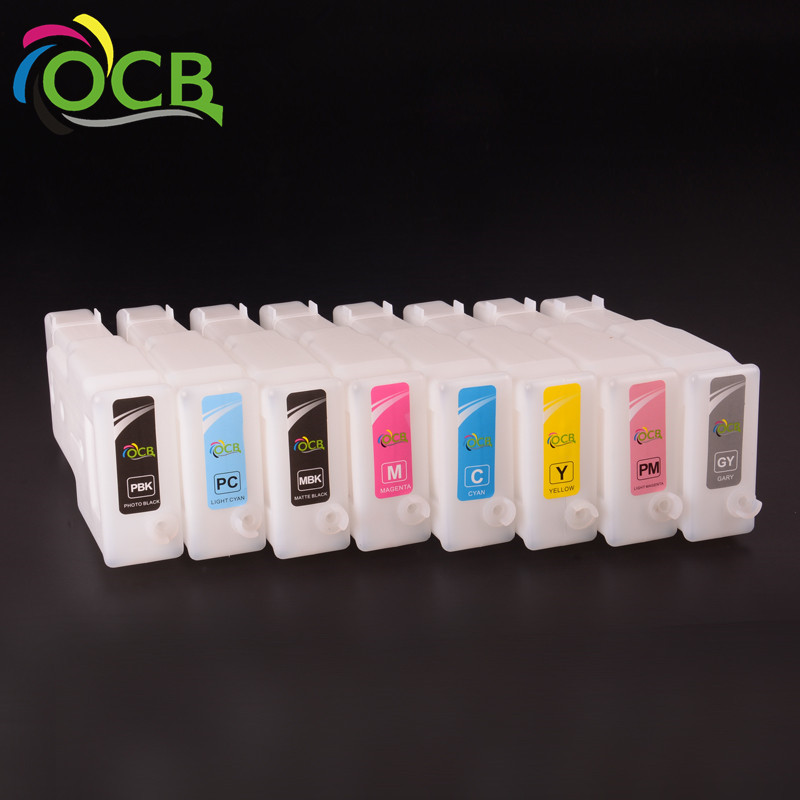 12 Colors 300ML/PC For Canon PFI 306 Empty Refillable Ink Cartridge With Chip For Canon iPF 8400 9400 8410 9410 Printer
