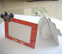 Custom made cardboard paper photo frame , handmade paper picture frame
