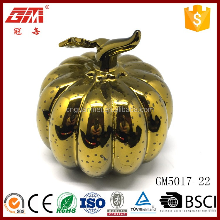 halloween led lighting glass pumpkin