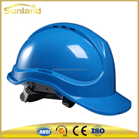 blue protective helmet for adults construction workers