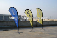 outdoor advertising flying teardrop flag with fiberglass flagpole