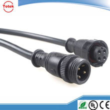 Customized male to female waterproof cable