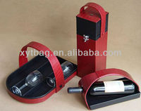 1 bottle faux leather wine carrier and OEM pu wine box