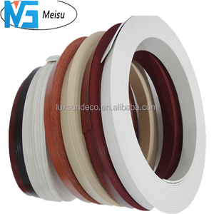 0.45mm 1mm 2mm wood grain PVC vinyl edge banding for panels plywood mdf particle board edge tape