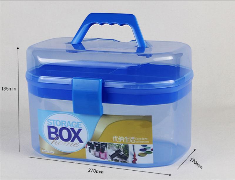 Clear Decorative Plastic Storage Box Makeup Mini Box
