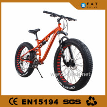 "27 Speeds 26x4.0"" full suspension Fat Tire Snow Mountain Bike 26 Beach Bike Fat Bikes"