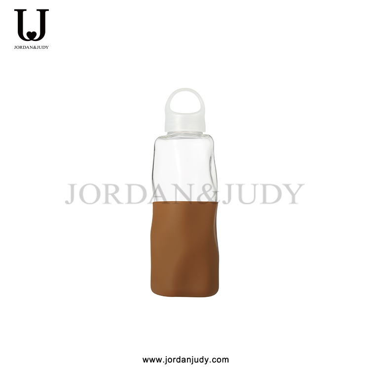 BPA Free Borosilicate Glass Water Bottle With Silicone Cover