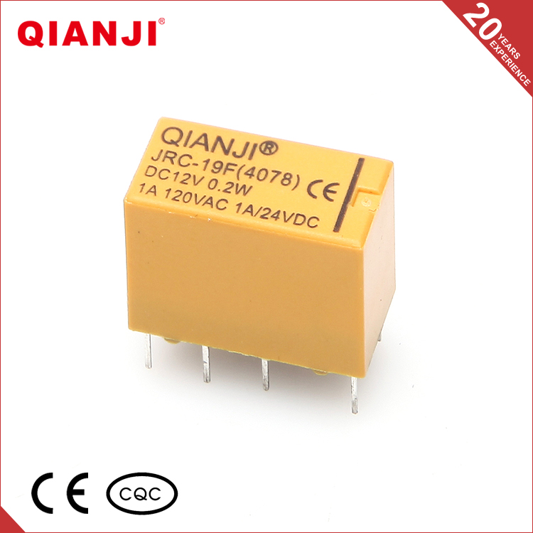 QIANJI Brand Oem Service Silver Alloy 1A 125VAC 10 Pins PCB Relay