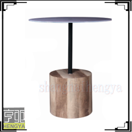 2015 modern round tempered glass dining table set with MDF bottom