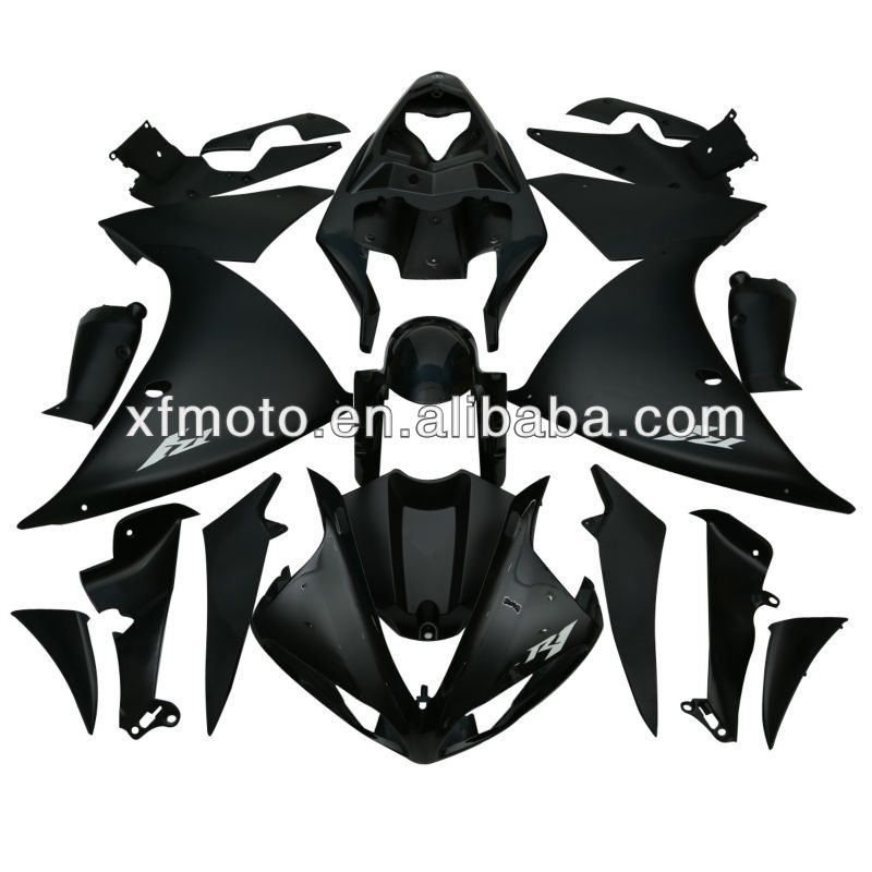 For Yamaha YZFR1 YZF <strong>R1</strong> 2009-2012 2010 <strong>2011</strong> Black ABS Plastic Fairing Body Work