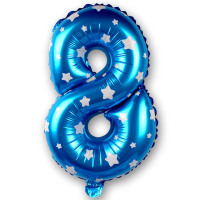 New Style16 Inch Blue/pink number Balloons happy birthday Wedding Party happy new year Decoration Dressed