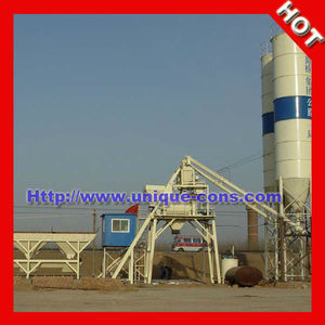 HZS50 ready mix concrete production mixing plant for exporting
