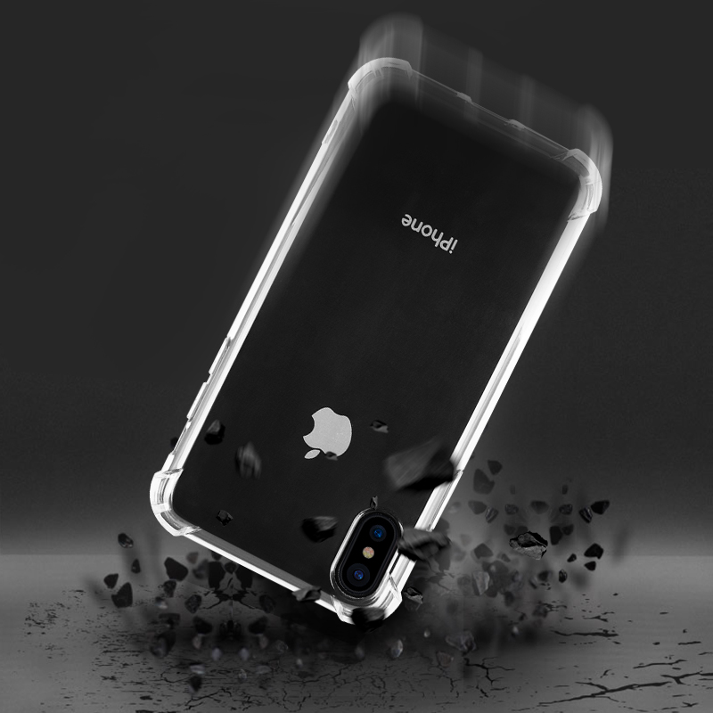 Shoot-proof Transparent for iphone 8 plus case , phone cover TPU for iphone X case