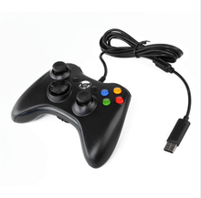 USB Wired Joypad Gamepad Controller For Microsoft for Xbox Slim 360 for PC for Windows7 Black Color Joystick Game Controller
