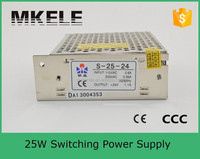S-25-24 24v 1a switching mode power supply 220v 24v converter ac to dc smps