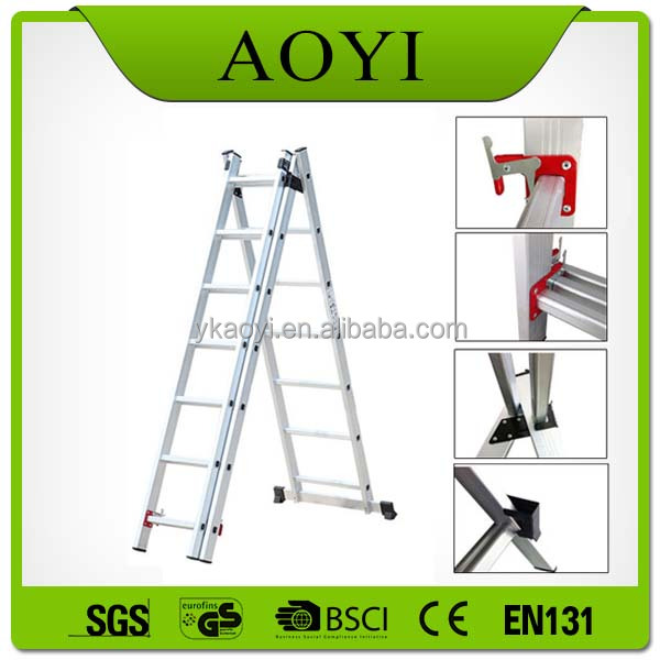 buy direct from china 3*7 style three section aluminum extension ladder with EN131 CE