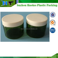 150ml Green transparent cosmetic jar / 150ml airtight PET plastic jar