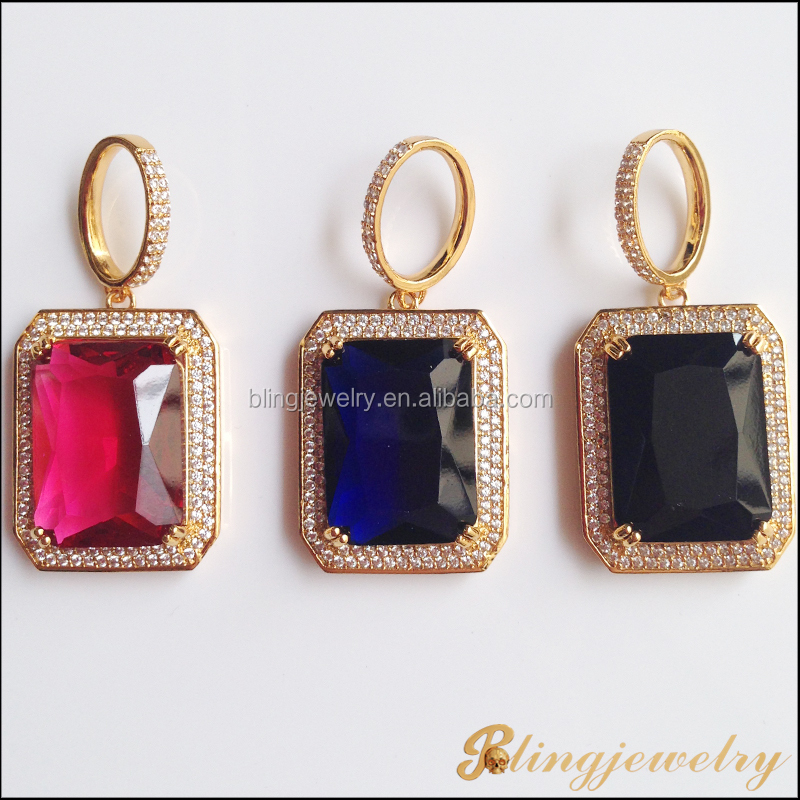 18k gold jewelry hip hop big stone pendant design jewelry ruby 18k gold jewelry hip hop big stone pendant design jewelry ruby pendant wholesale mozeypictures Images
