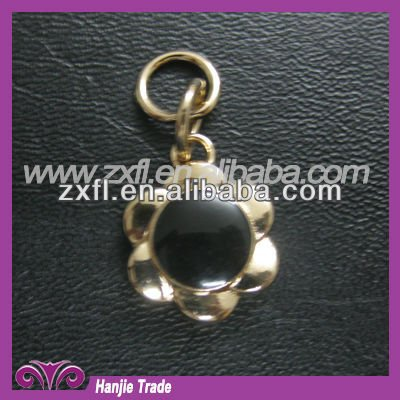 2012 flower metal pendant ornament decoration for bracelet charms