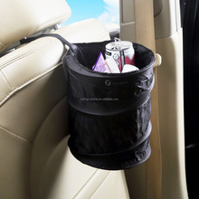 Black Collapsible Pop-up Leak Proof Car Trash Can