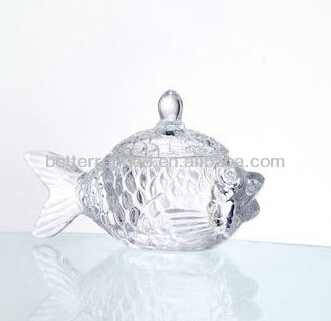 fish shape honey glass jar