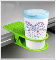 Coffee Tea Drink Mug Paper Cup Can Coaster Clip Holder Office Library Desk Table