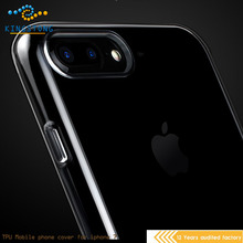 Clear Soft TPU double Protective Case Cover for iphone Mobile Phone Cover Case for iphone7/7p