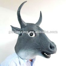 cow mask, bull mask, bufflo head mask, crazy party mask