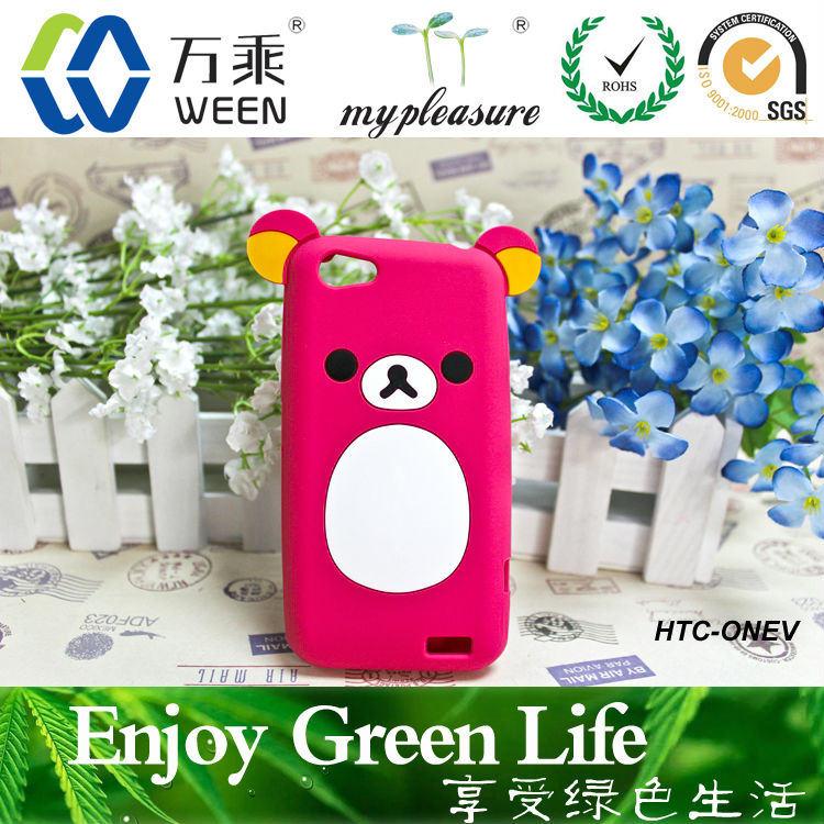 cell phone accessories wholesale,silicone bear shaped cellphone case
