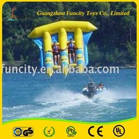 PVC tarpaulin inflatable water sport fly fish,fly fish banana boat,flying fish towable made from Guangzhou