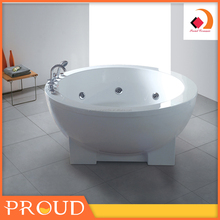 New Design Freestanding Adult Spa Round Acrylic Bathtub For Sale