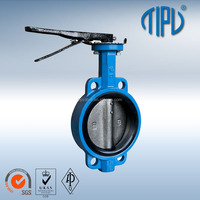 Cast Steel Center Line Wafer Butterfly Valve With EPDM Valve Liner