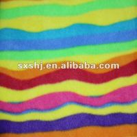 100% poly colorful and bright fleece fabric