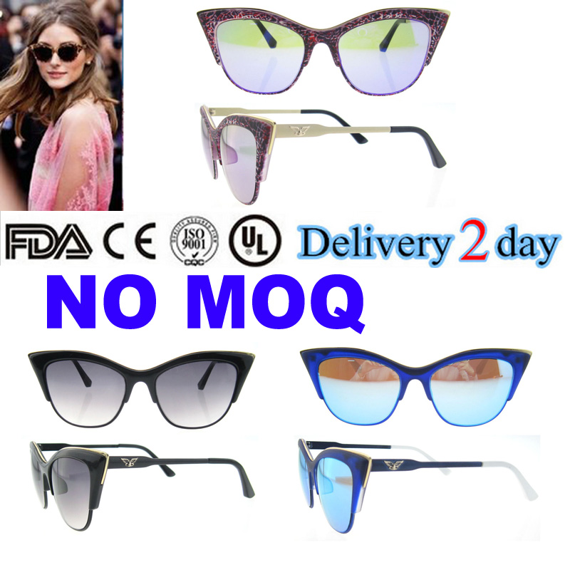 2016 Newest Design custom cat eye women party travelling sunglasses