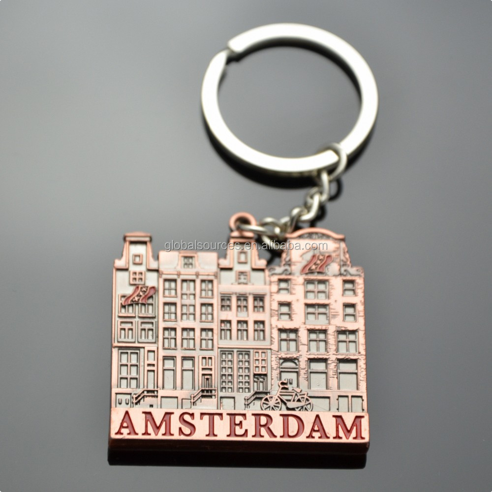 Holland souvenir metal windmill keyring