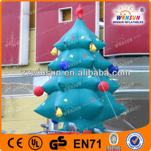 Colorful LED lights on family tree decorations