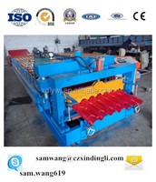 XDL good quality glazed metal roof tile machine colored steel glalvanized aluminum roof sheet making machine