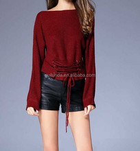 Custom wholesale warmer latest design ladies winter bodycon sweaters