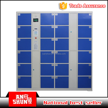 2017 hot sale Waterproof Coin or card operated lock locker for supermarket