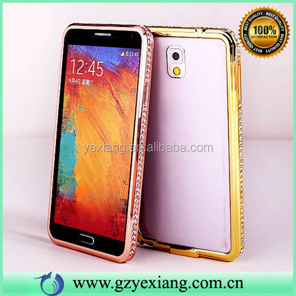 2014 Luxury Crystal Rhinestone Diamond Diamond For Galaxy Note 3 Bumper Case