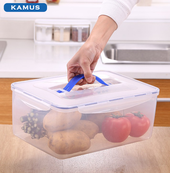 Kamus Housewares Locked Plastic Food Container Food Storage medicine storage
